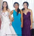 bride with her bridemaids