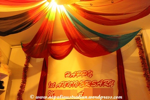 Celebrating our bollywood themed first wedding anniversary for Room decoration ideas for 1st anniversary