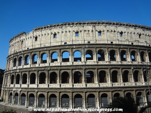 Roman Architecture Colosseum colosseum and ruins of roman forum: italy | nepaliaustralian
