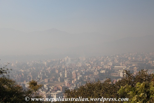 View of Kathmandu form Swayambhu
