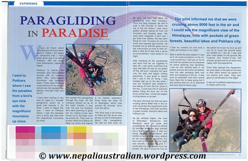 Paragliding for blog