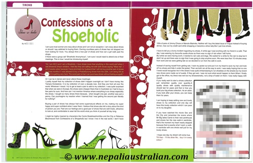 Confessions of a Shoeholic blog