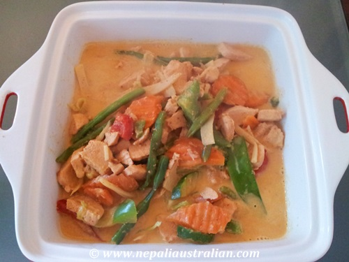 Thai red chicken curry (7)