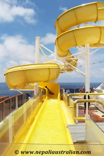 Water Park and Green Thunder on board Carnival Cruise (2)