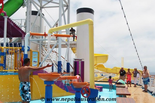 Water Park and Green Thunder on board Carnival Cruise (6)