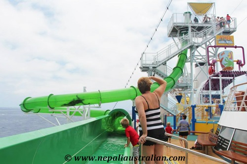 Water Park and Green Thunder on board Carnival Cruise (7)