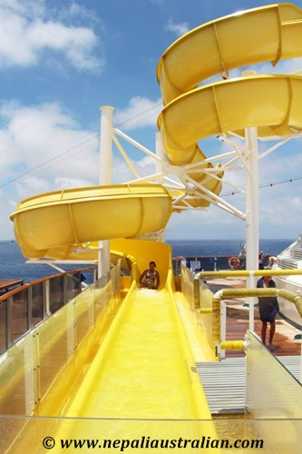 Water Park and Green Thunder on board Carnival Cruise (8)