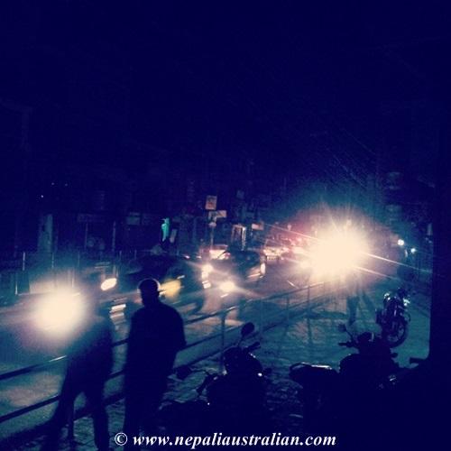 Load shedding in Kathmandu