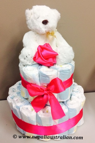 nappy cake for girl