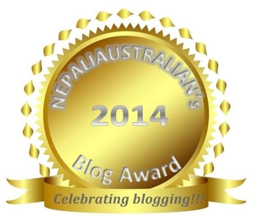 2014 blog award