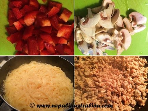 Chicken spaghetti Bolognese (1)