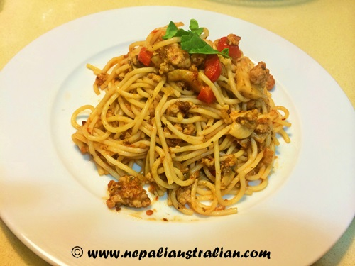 Chicken spaghetti Bolognese (4)