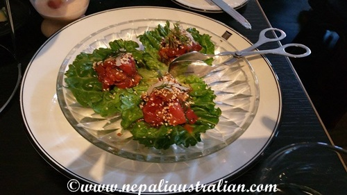Yellowfin Tuna Tartare lettuce Cups
